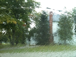 Raining on Washington Island
