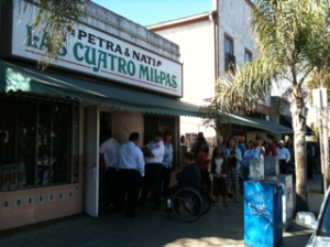 Waiting in Line at Quatros Milpas