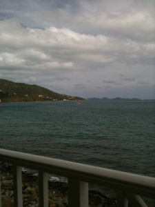 Saturday 3 p.m.: Enjoying the Balcony View of Road Harbour